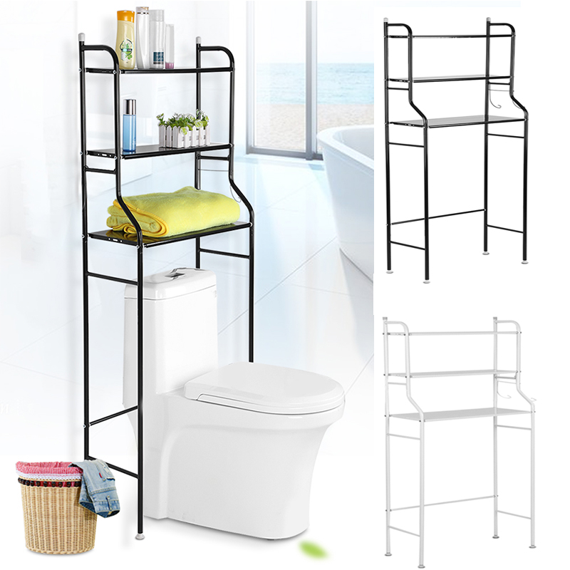 3-Tier Iron Toilet Towel Storage Rack Holder Over Bathroom Towel Shelf Kitchen Storage Rack Accessory Shower Shelf Storage Rack