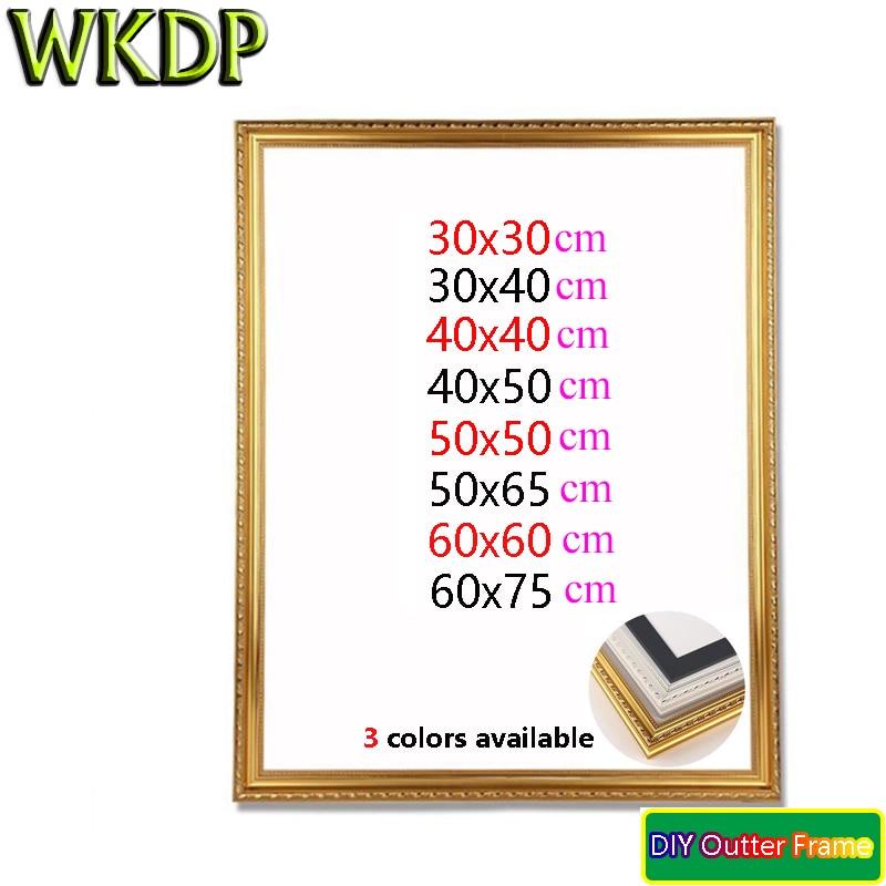 WKDP Diy наружная рама незаконченная Растяжка картина маслом Алмазная мозаика Толстая стена домашний Декор Рамка 12x1 6/16x20 дюймов