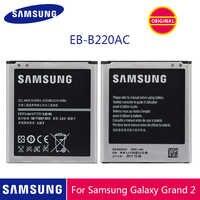Original para SAMSUNG Galaxy Grand 2 Batería EB-B220AC para Samsung Grand 2 Batería SM-G7102 reemplazo teléfono bateria 2600mAh