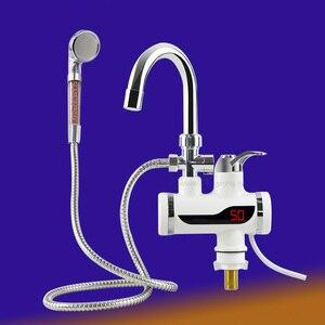 Image 2 - เครื่องทำน้ำอุ่น 3000Wห้องน้ำก๊อกน้ำหน้าจอไฟฟ้าเครื่องทำความร้อนLcdก๊อกน้ำไม่มีร่อง