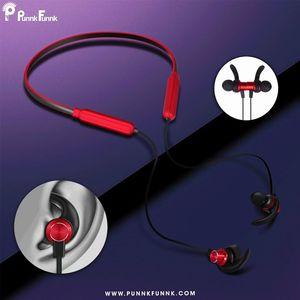 Image 5 - PunnkFunnk Bluetooth 5.0 kulaklık kablosuz boyun kulaklıklar manyetik bas Stereo kulaklıklar auriculares fone de ouvido