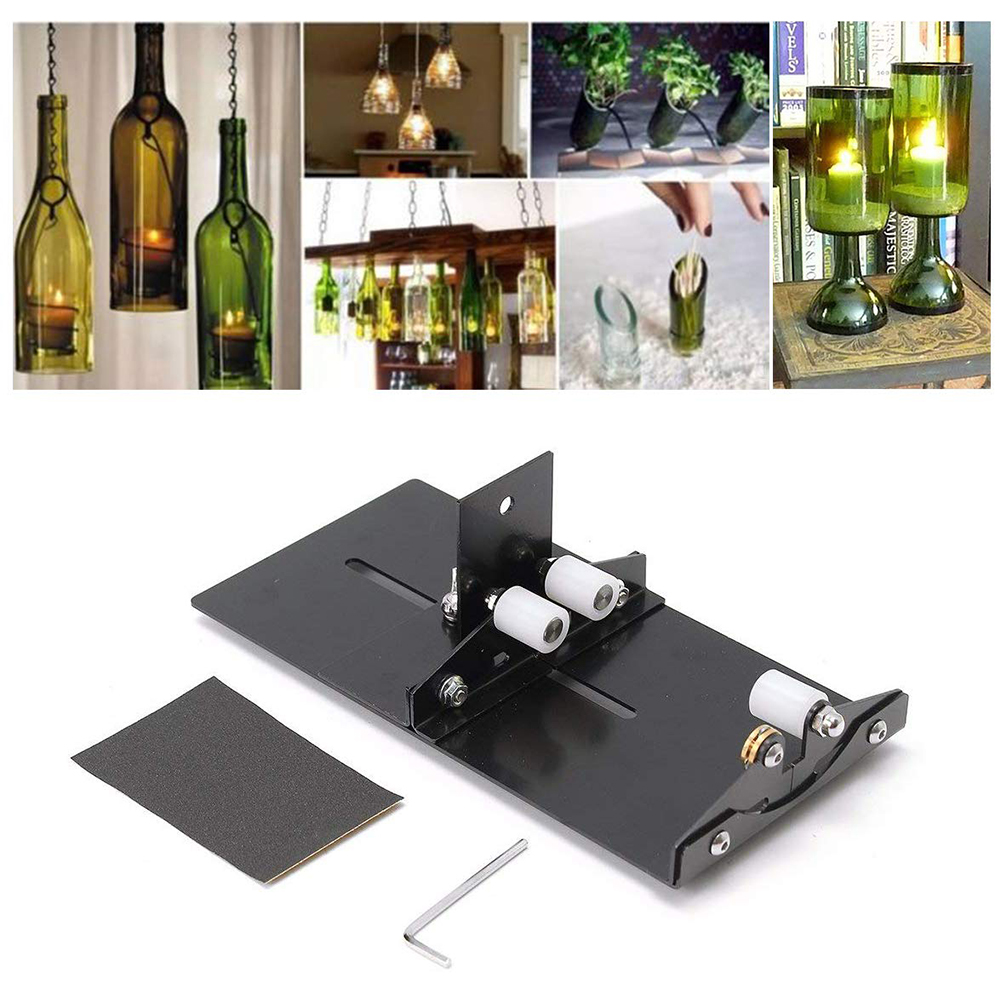 Machine Bottle Cutter Cutting Tool Sculptures Cutter For DIY Glass Cutting Stainless Steel Beer Wine Jar Precise Glass Cutting