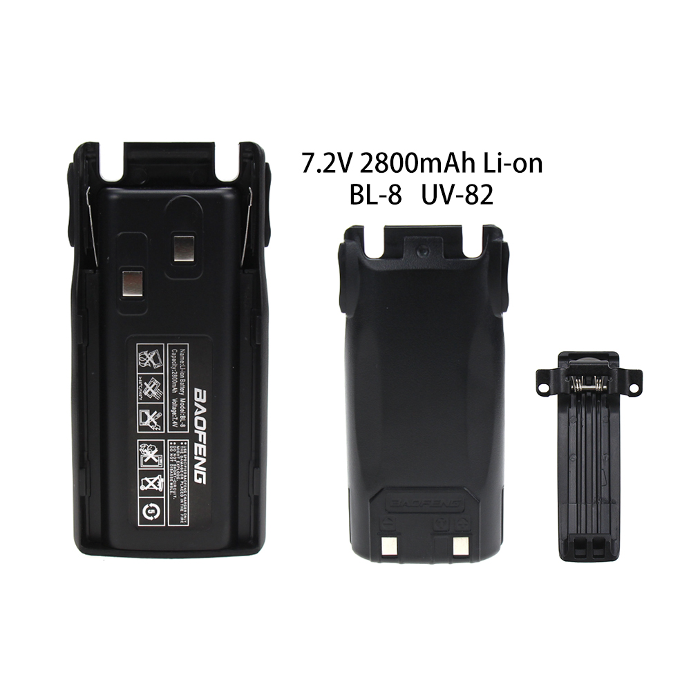 Baofeng UV-82 BL-8 2800mAh 7.4V Li-ion Battery For Baofeng Walkie Talkie UV82 UV-8D UV-89 UV-82HP UV-82HX Two Way Radio