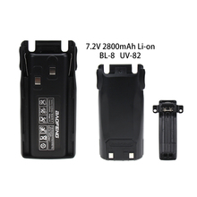 Baofeng UV-82 BL-8 2800mAh 7.4V Li-ion Battery for Walkie Talkie UV82 UV-8D UV-89 UV-82HP UV-82HX Two Way Radio