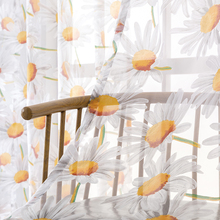 Elka Floral Tulle Cutains for Living Room Summer Window Treatments Modern Floral Printed Window Drapes Voiles