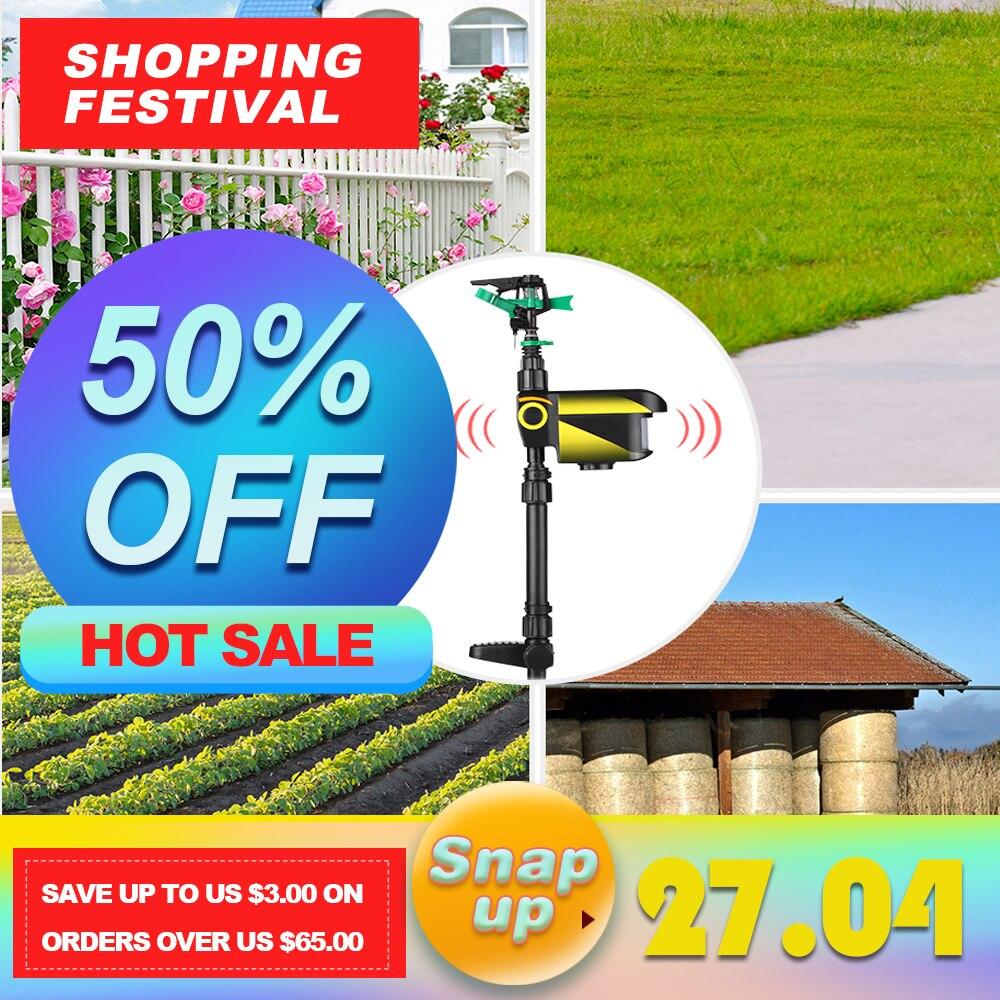 Solar powered Motion Activated Animal Repeller Garden Sprinkler Scarecrow Animal Deterrent Sprinkler Upgraded version