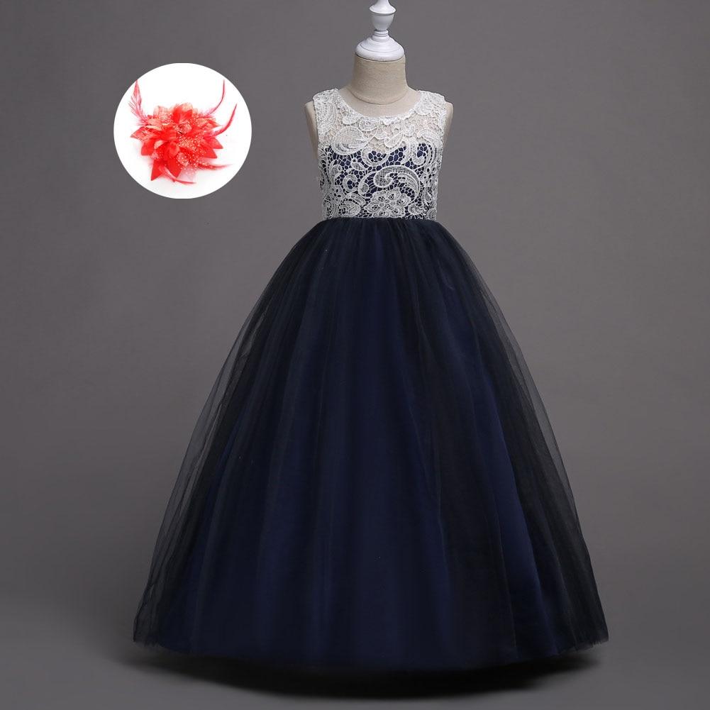 ROYAL BLUE Flower Girl Dress Prom Party Formal Wedding Birthday Graduation Gown