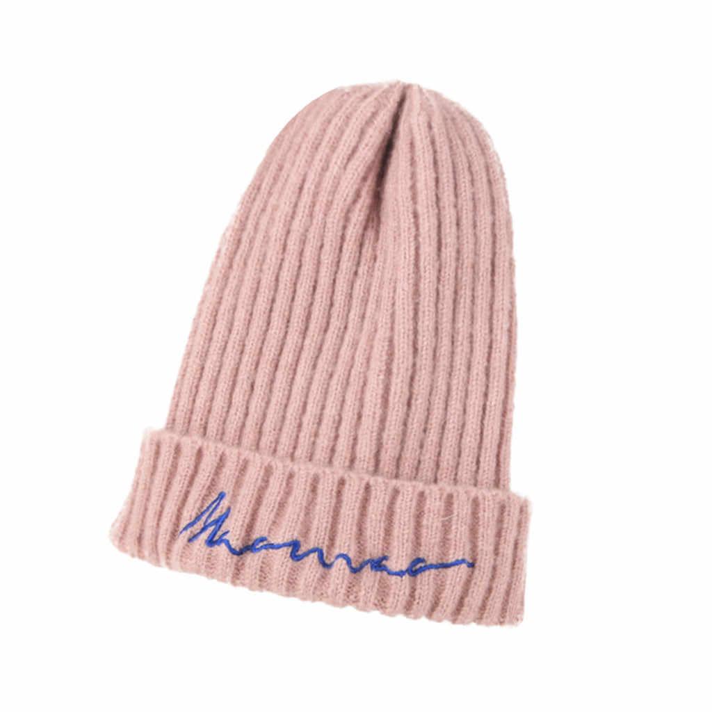Nova moda crianças outono inverno quente chapéus casuais artesanal de malha linhas grossas cabo chapéus estilo retro ao ar livre crochê boné