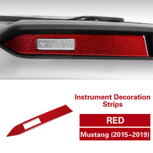 цена на Carbon Fiber Strips Instrument Panel Frame Cover Trim for Ford Mustang 2015-2019 Interior Decoration Car Accessories Stickers