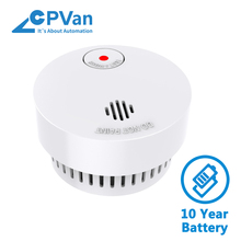 CPVan wireless fire detector 10 yr smoke alarm smoke detector CE EN14604 CE Certified Photoelectric Sensor fire rookmelder stable photoelectric wireless smoke fire detector sensor 433mhz alarm system ls 828 7p