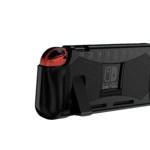 Image 2 - Coque en Silicone pour Nintendo Switch coque de Protection anti choc poignée ergonomique pour Nintendo Switch NS accessoires