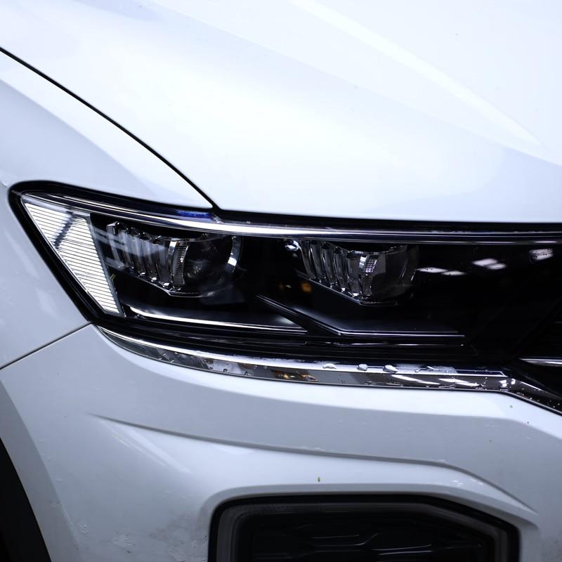 Lsrtw2017 TPU Transparent Black Car Headlight Protective Film for Volkswagen vw t-roc 2017 2018 2019 2020 anti-scratch sticker