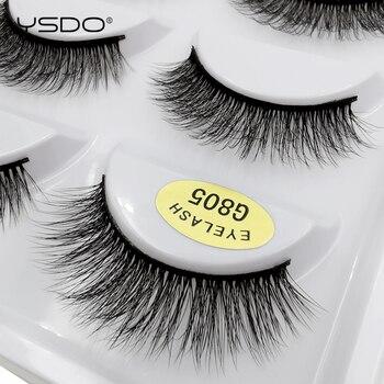 YSDO 5pairs mink lashes dramatic eyelashes hand made 3d mink eyelashes makeup soft volume false lashes natural eyelash extension