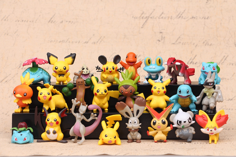 24Pcs Pokemon Pikachu Small Fire Dragon Desktop Decoration Home Decoration Crafts