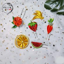 Xiaoqin Handmade Workshop Original Fruit Series Antique Ornament Handmade Flower Material Package Video Tutorial(China)