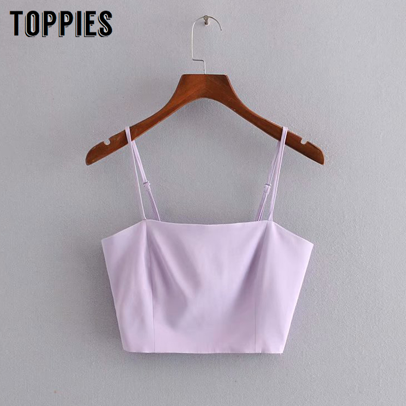 Summer Camisoles Tops Sexy Sleevelesss Violet Crop Tops Strapless Sandy Beach Clothes