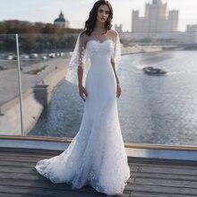 Длинное кружевное свадебное платье sevintage в стиле бохо женское