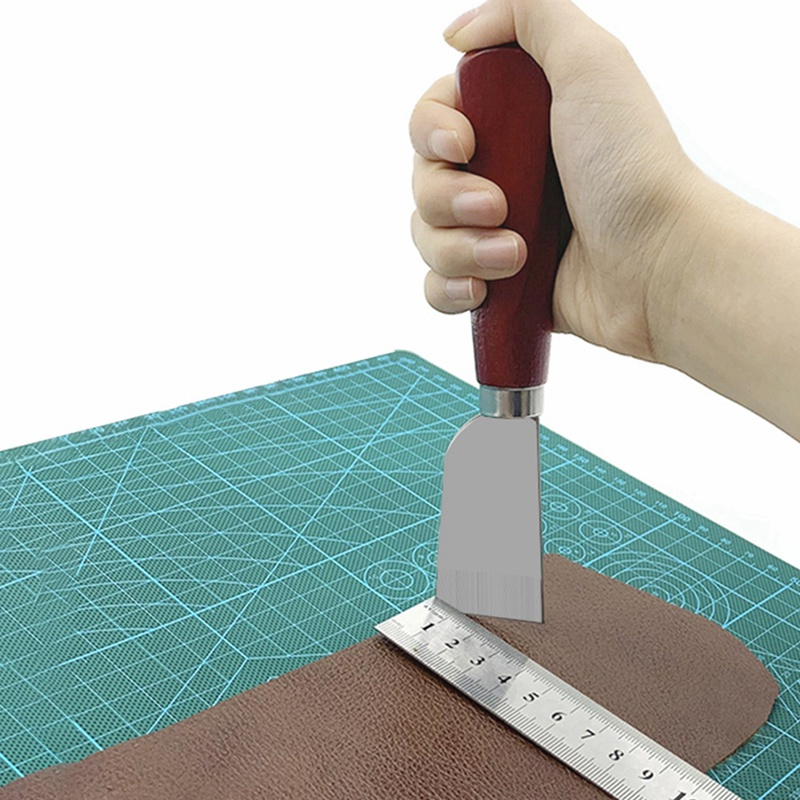1pc Stainless Steel Leather Cutting Knife Edging Leather Trimming Knife Leather Cut Tools Carving*