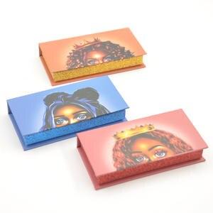 Packaging-Box Lash-Boxes Square-Case False-Eyelash Vendor Faux-Cils Custom-Logo Bulk