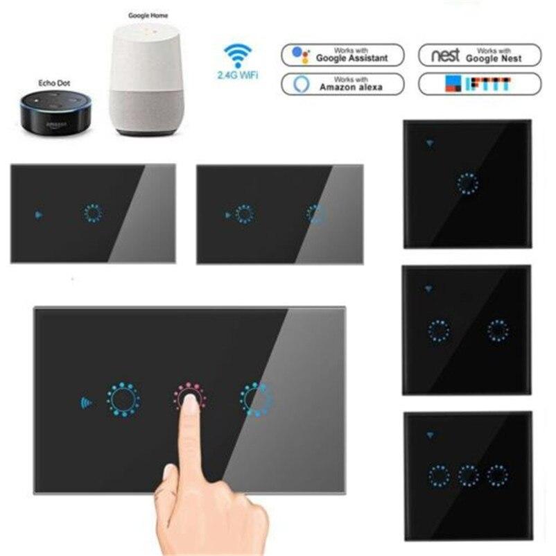 wifi inteligente interruptor de controle remoto interruptor de chave de toque de controle de voz interruptor