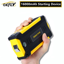 Gkfly alta capacidade 16000mah dispositivo de partida impulsionador 12v portátil carro saltar arranque cabos banco potência carregador bateria do carro