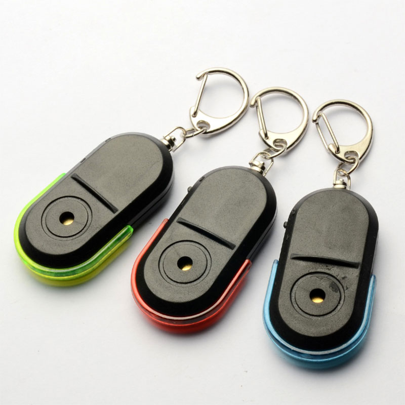 Whistle Sound LED Light Anti-Lost Alarm Key Finder Locator Keychain Device GV99