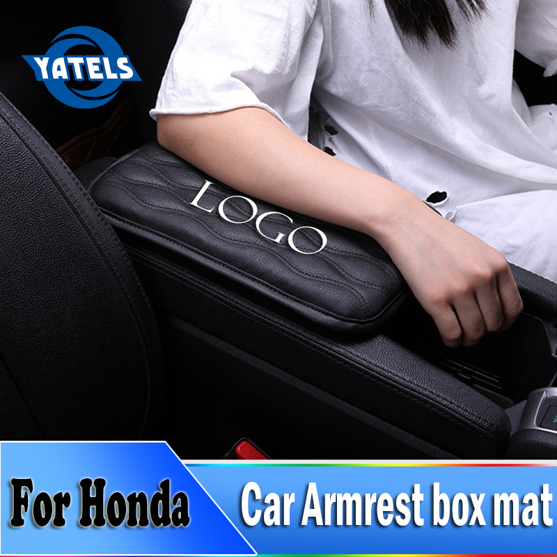 NEW Car armrest protection Box Pad Universal armrest Increase pad For Honda City XR V HR V Accord FIT Jazz Stream Crider Greiz|Automotive Interior Stickers| |  - title=