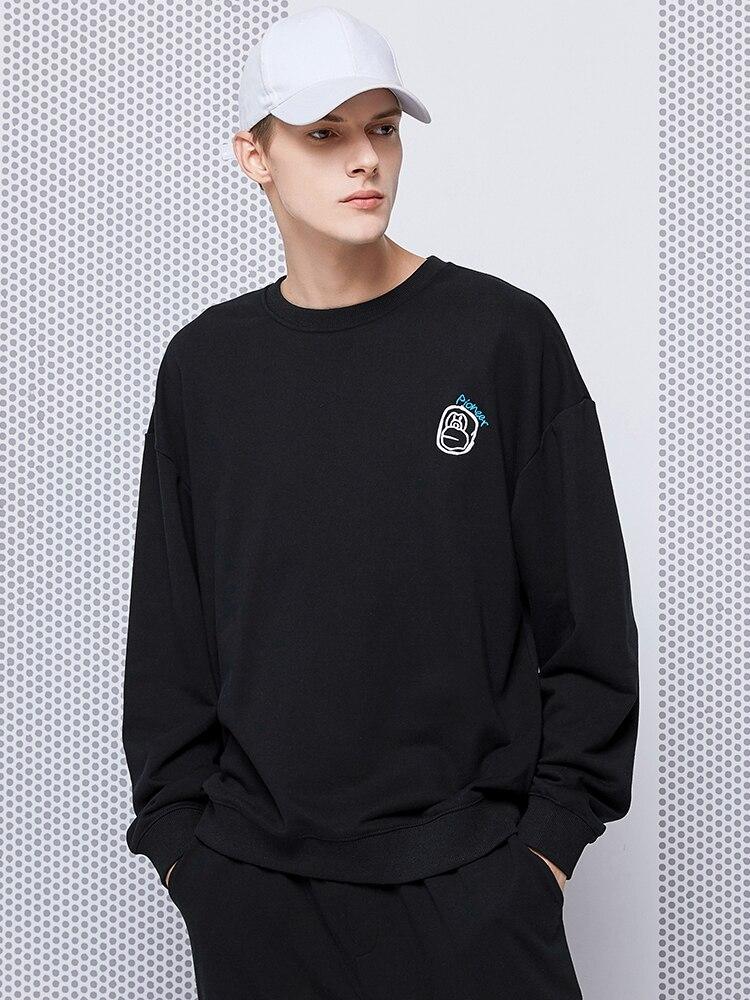 Pioneer Camp 2020 Fashion Hip Hop Hoodies Sweatshirts Mens Streetwear Cotton O-neck Black Plus-Size Jogger AWY0108002