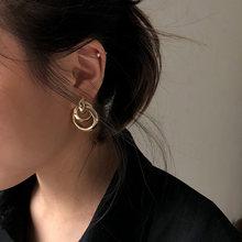 Популярные Модные золотые серьги для женщин несколько модных