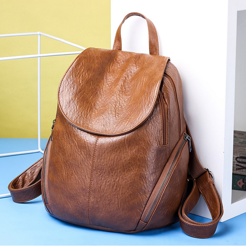 SHUJIN 2020 Fashion Women Backpacks PU Leather Backpack Shoulder Bags Daypack For Women Female Rucksack Feminine Mochila