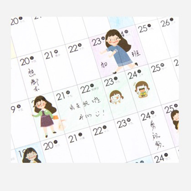 2020 365 Days Plan Table Recording Schedule Paper Wall Calendar Daily Planner Notes Office School Supplies Hot Sale
