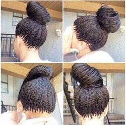 Boîte tressée tresses cheveux synthétique torsadé tresse avant de lacet perruques longue noire perruque afro-américaine résistant à la chaleur remplacement de fibres