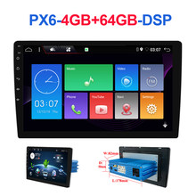 1 din DSP Android 10 Octa Core PX6 Auto Radio Stereo GPS Navi Audio Video Einheit PC Wifi BT AMP 7803 OBD DAB + SWC 4G + 64G Autoradio