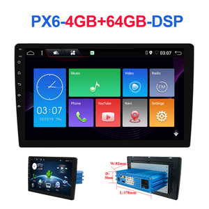 1 din DSP Android 10 Octa Core PX6 Car Radio Stereo GPS Navi Audio Video Unit PC Wifi BT HDMI AMP 7803 OBD DAB+ SWC 4G+64G