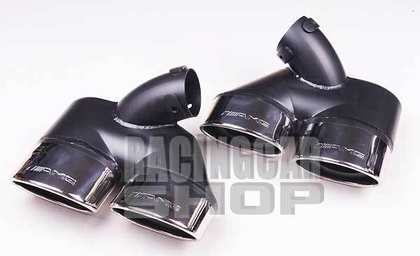 EXHAUST TIPS DUAL TIP 1 PAIR/SET for BENZ AMG W211 E-CLASS  M105W 1