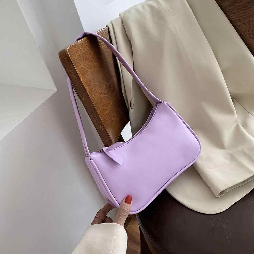 בציר רטרו טוטס שקיות נשים 2020 אופנה תיק רך עור נשי קטן Subaxillary תיק מזדמן רטרו מיני כתף תיק