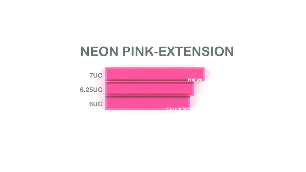 014-CYBERPUNK PUMPER Spacebar Neon Pink Externsion