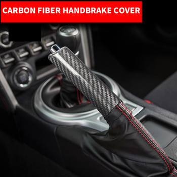 Car Interior Carbon Fiber Handbrake Cover Handle Protector Grips Hand Brake Case Accessories For Subaru BRZ Toyota 86 2013-2020