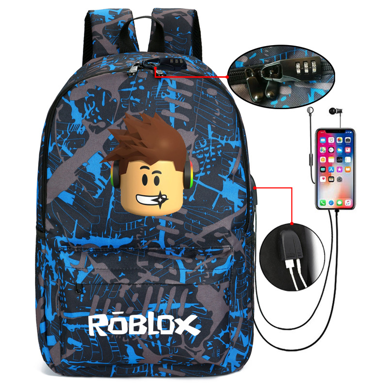 Thunder Backpack USB Anti-theft Women Bagpack Canvas Student Backpack For Boy Girl Children bag Teenagers Schoolbags