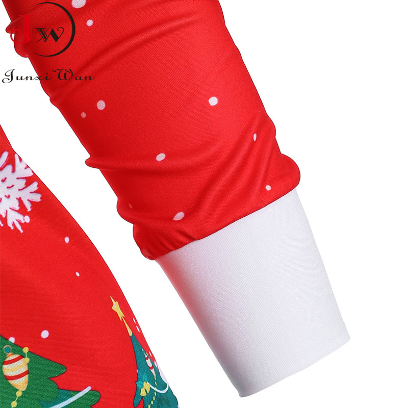 Christmas Hoodies Sweatshirts Women Autumn Winter Slash Neck Long Sleeve Snowman Print Pullovers Casual Warm Tops 5