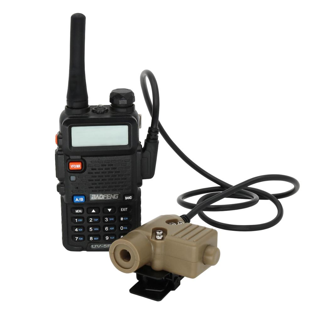 Купить с кэшбэком Tactical Headset U94 PTT Military Adapter for Kenwood  2 PIN  ptt Push-to-talk Tactical headphone Accessories