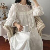 Women's Lolita Dress Princess Sleepshirts Vintage Palace Style Lace Embroidered Nightgowns.Victorian Nightdress Lounge Sleepwear