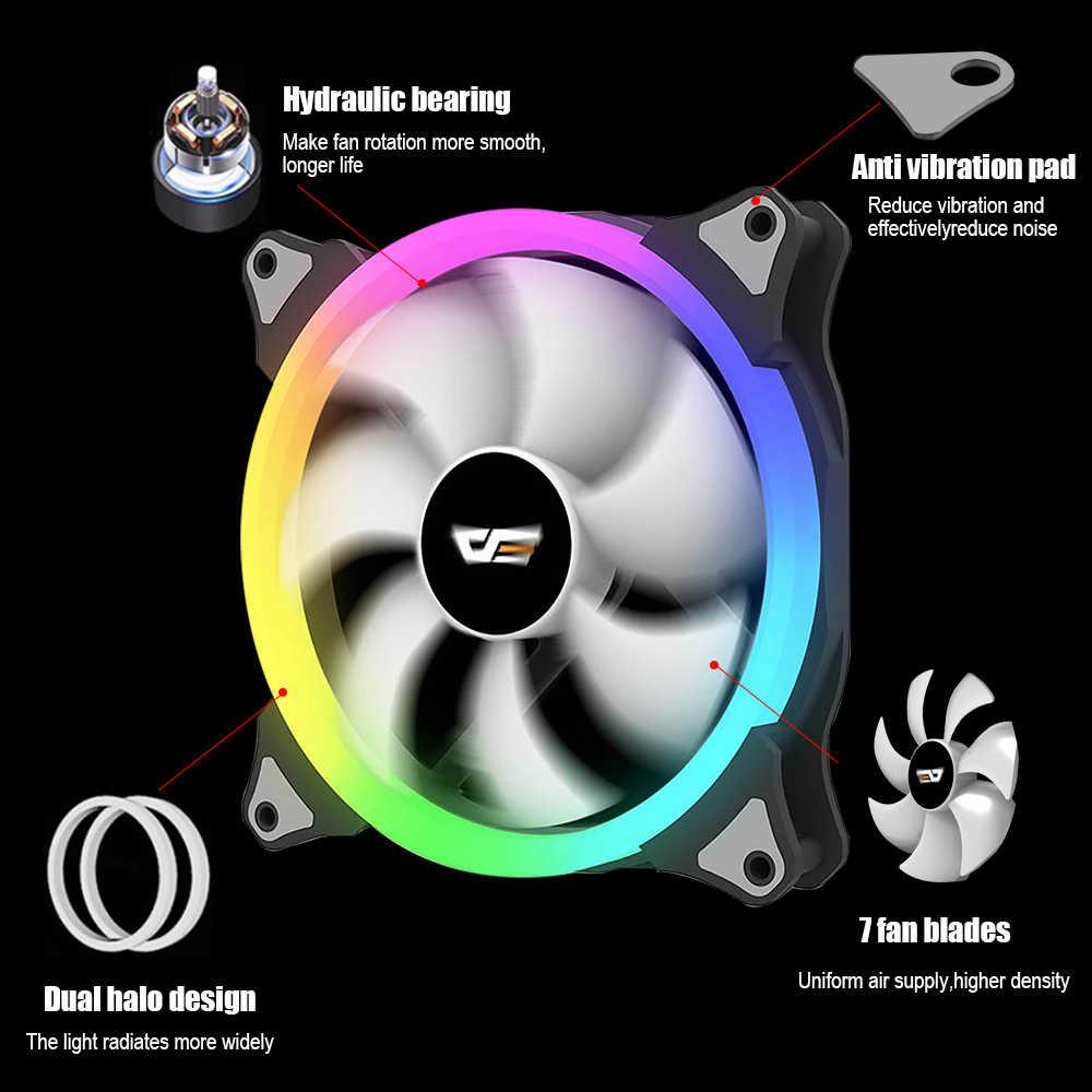 DarkFlash CS140 PC Ventilateur De Refroidissement 140mm RGB AURA SYNC 5V/3pin Tête Contrôlable Ajuster LED Coque D'ordinateur Refroidisseur De Processeur