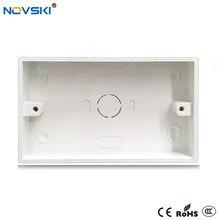 NOVSKI – boîte de montage externe pour interrupteur mural et prise, 146mm * 86mm * 32mm blanc, boîte de jonction noir de cuisson