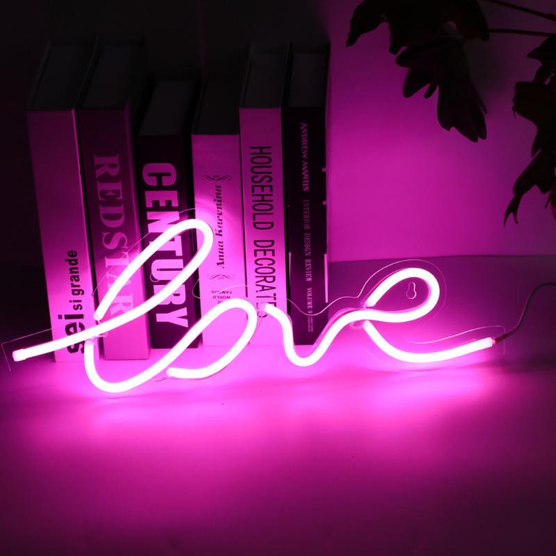 Led Neon Light Sign Holiday Xmas Party Wedding Decorations Kids Room Home Decor Pineapple Ice Cream Banana Neon Lamp image