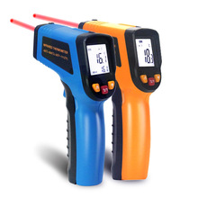 Ketotek דיגיטלי לייזר IR מדחום אינפרא אדום LCD ללא מגע CF בחירת משטח Pyrometer חיצוני טמפרטורת מטר