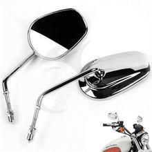 Мотоцикл Левая Правая сторона зеркало заднего вида для Harley Suzuki KAWASAKI Honda черный хром аксессуары для мотоциклов