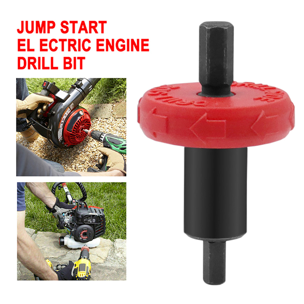 1PC Motor Mower Starter Electric Engine Drill Bit Adapter For Troy-Bilt Plug For Electric Start Capable Handheld Power Equipment