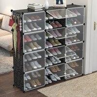 多層プラスチック靴キャビネット防塵ストレージオーガナイザーモジュラークローゼット靴ホーム省スペース靴ラックドア -