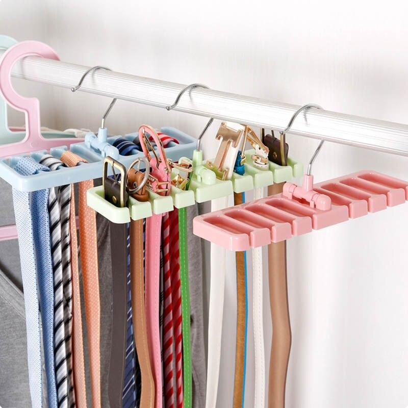 1Pcs Multifunctional Closet Fixing Rack Wardrobe Finishing Rack Belt Storage Bag Rotatable Household Storage Storage Appliances